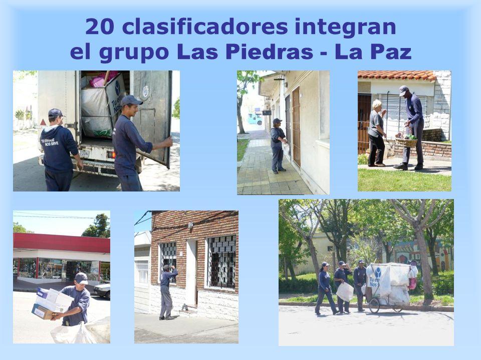 20 clasificadores integran el grupo Las Piedras - La Paz