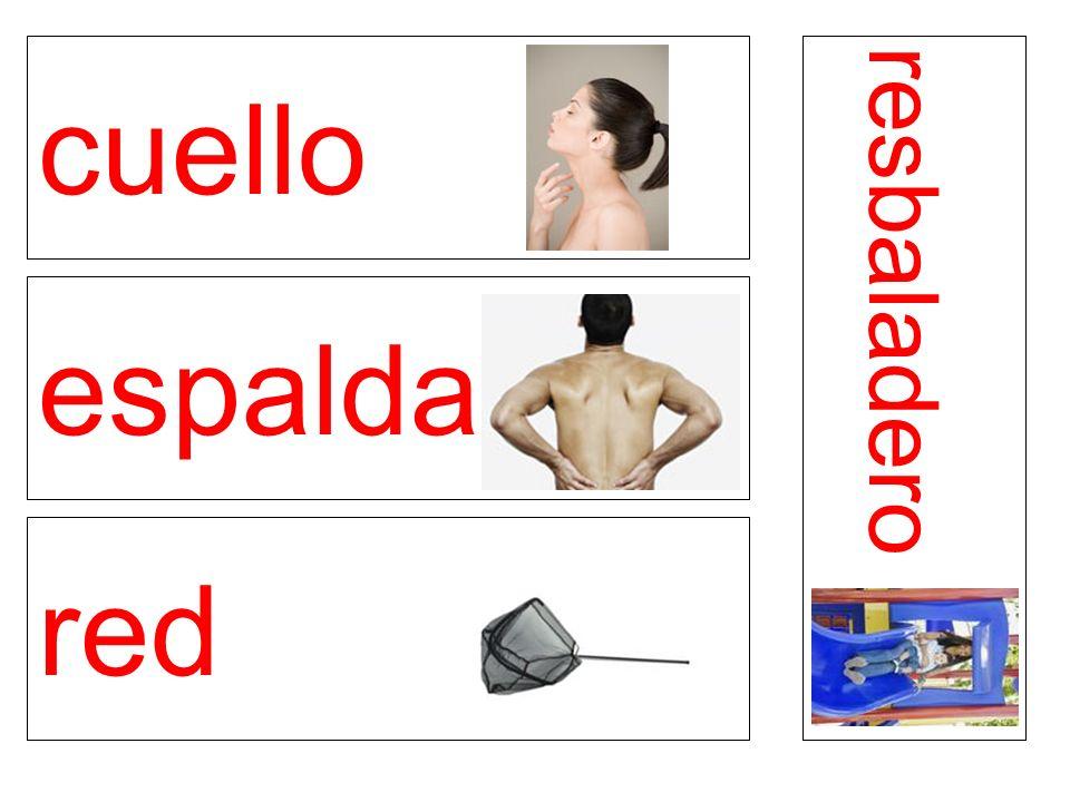 cuello espalda red resbaladero