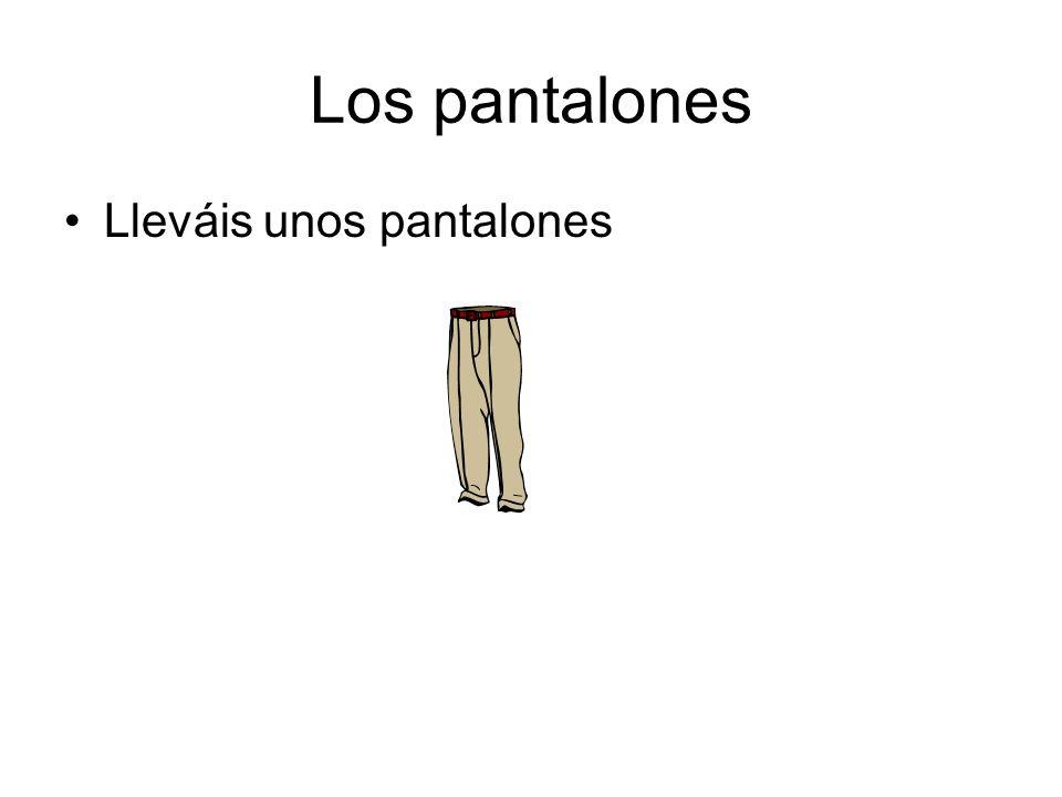 Los pantalones Lleváis unos pantalones