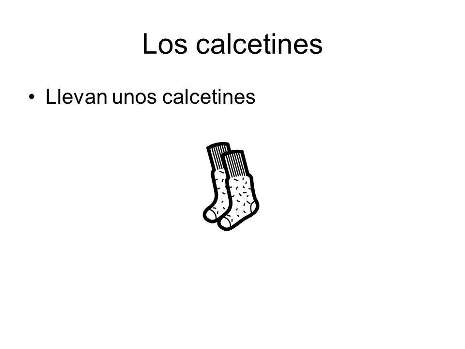 Los calcetines Llevan unos calcetines