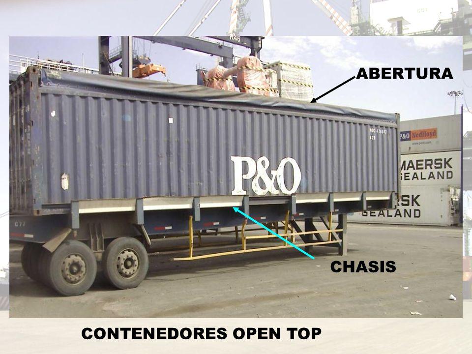 CONTENEDORES OPEN TOP ABERTURA CHASIS