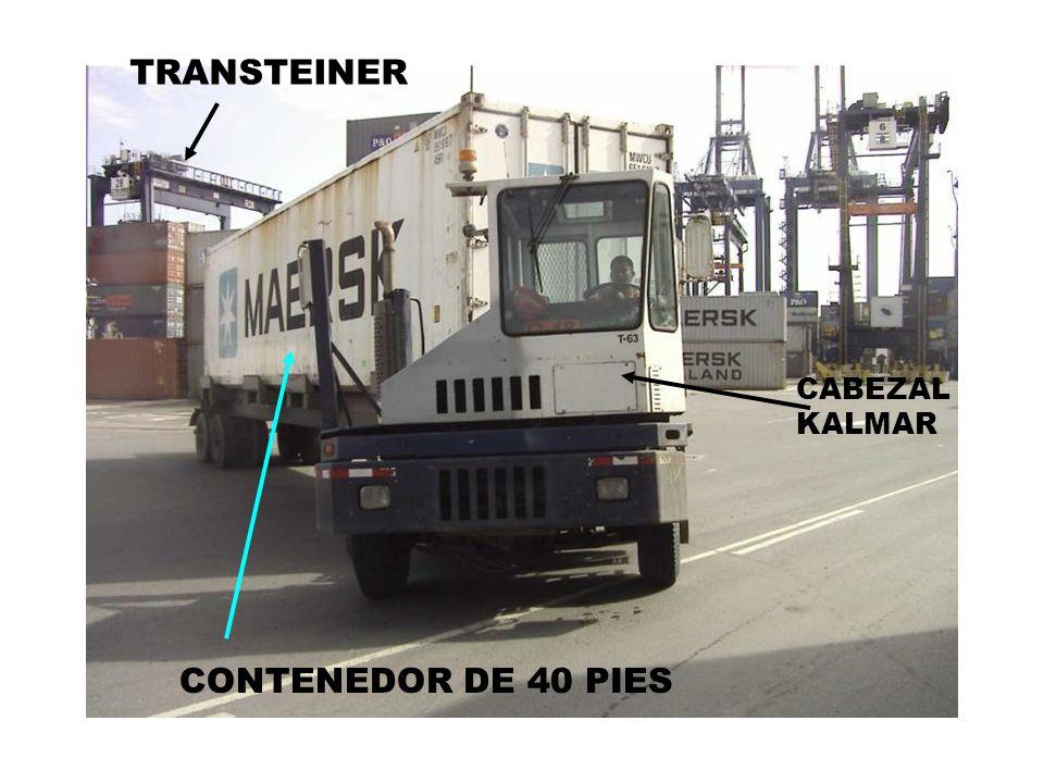 CONTENEDOR DE 40 PIES CABEZAL KALMAR TRANSTEINER