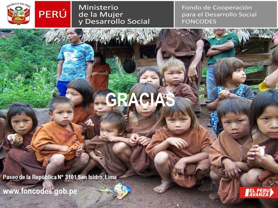 Paseo de la República N° 3101 San Isidro, Lima www.foncodes.gob.pe GRACIAS Fin