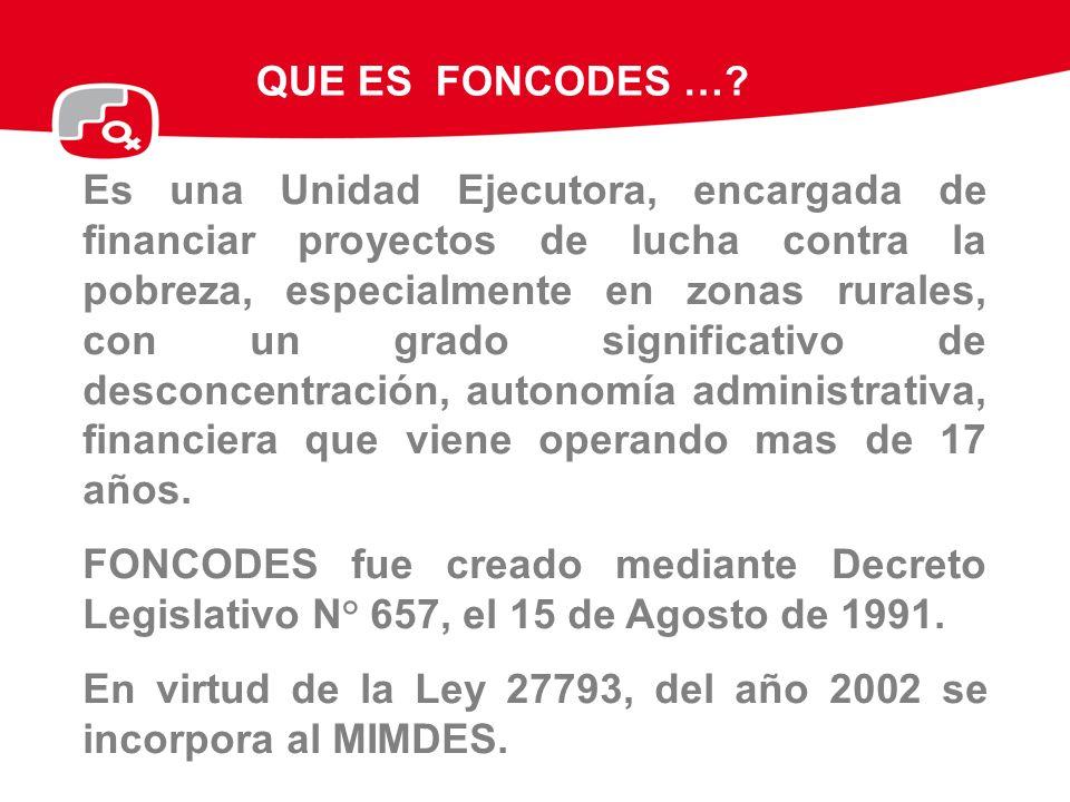 INVERSIÓN SEGÚN QUINTILES DE POBREZA: 1991- Setiembre 2009 En los 18 años de vida del FONCODES, se ha financiado 55,291 pequeños proyectos de infraestructura social, económica y proyectos productivos.