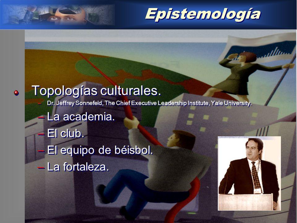 Epistemología Topologías culturales.–Dr.