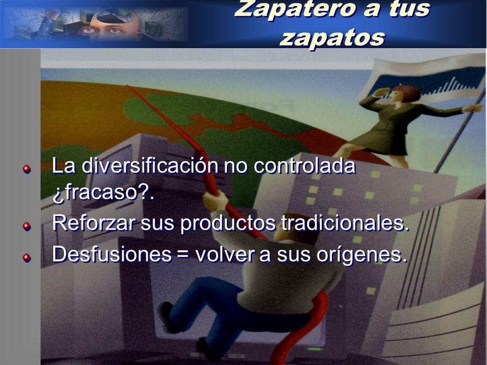 Zapatero a tus zapatos La diversificación no controlada ¿fracaso?.