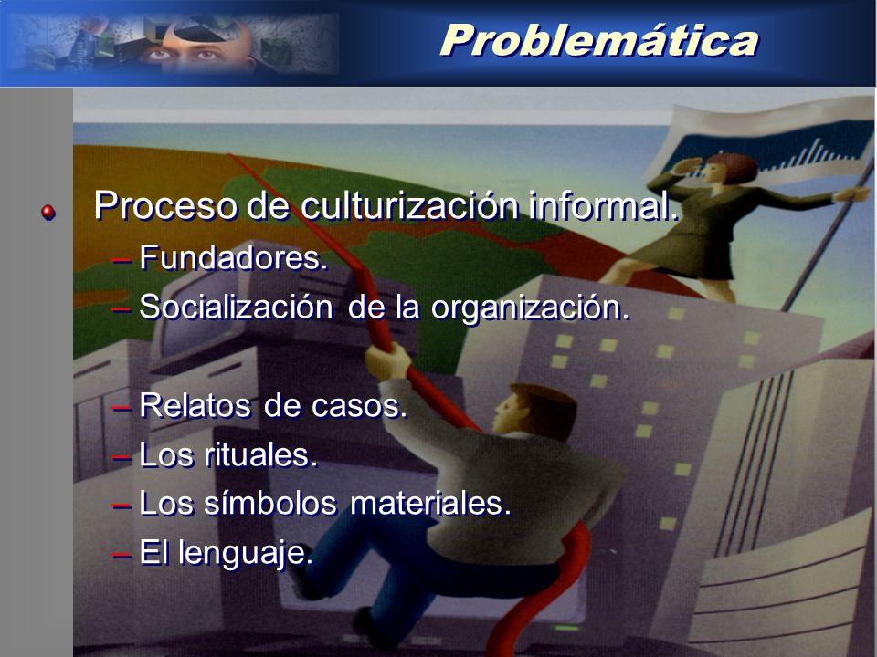 Problemática Proceso de culturización informal.–Fundadores.