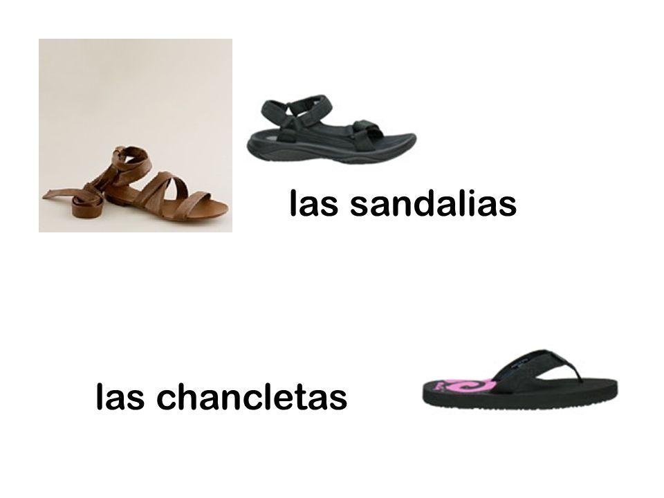 las sandalias las chancletas