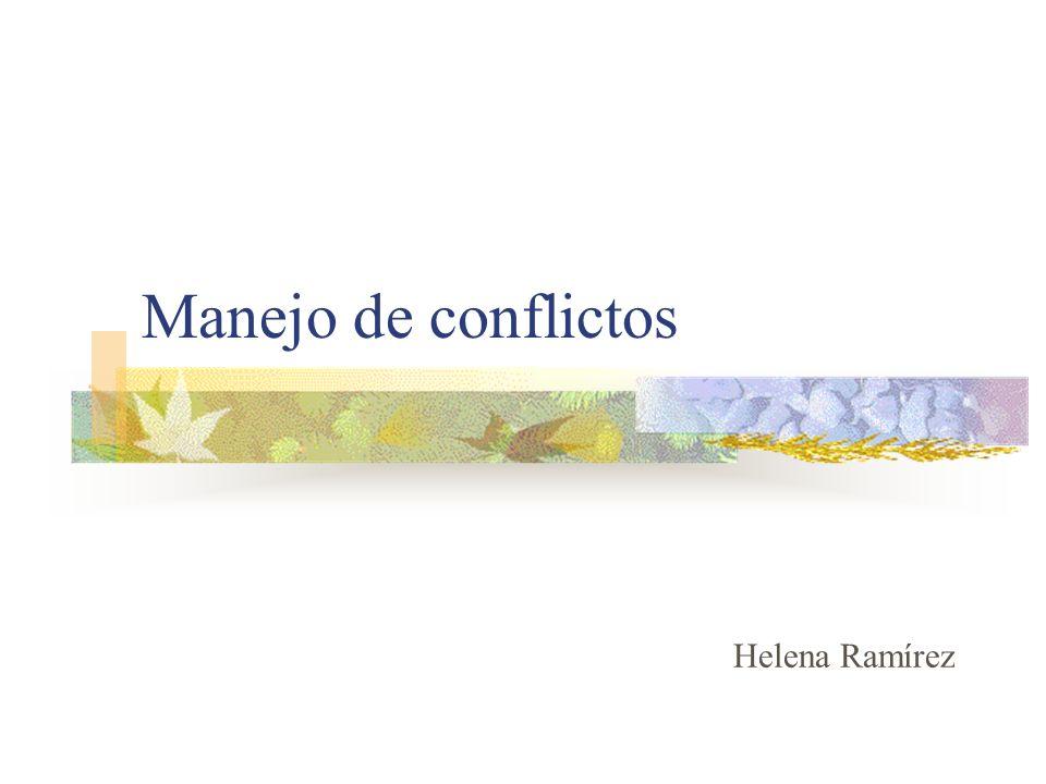 Manejo de conflictos Helena Ramírez