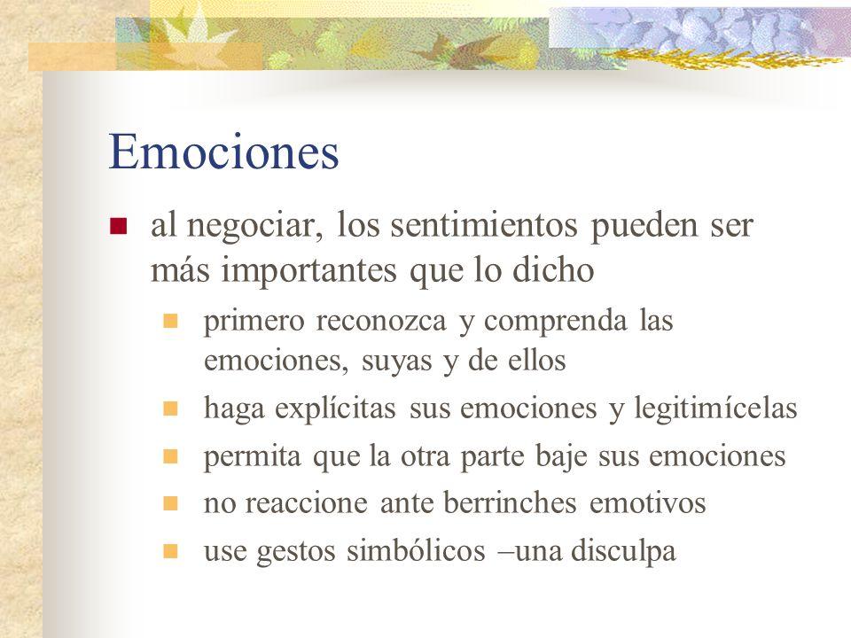 Emociones al negociar, los sentimientos pueden ser más importantes que lo dicho primero reconozca y comprenda las emociones, suyas y de ellos haga exp