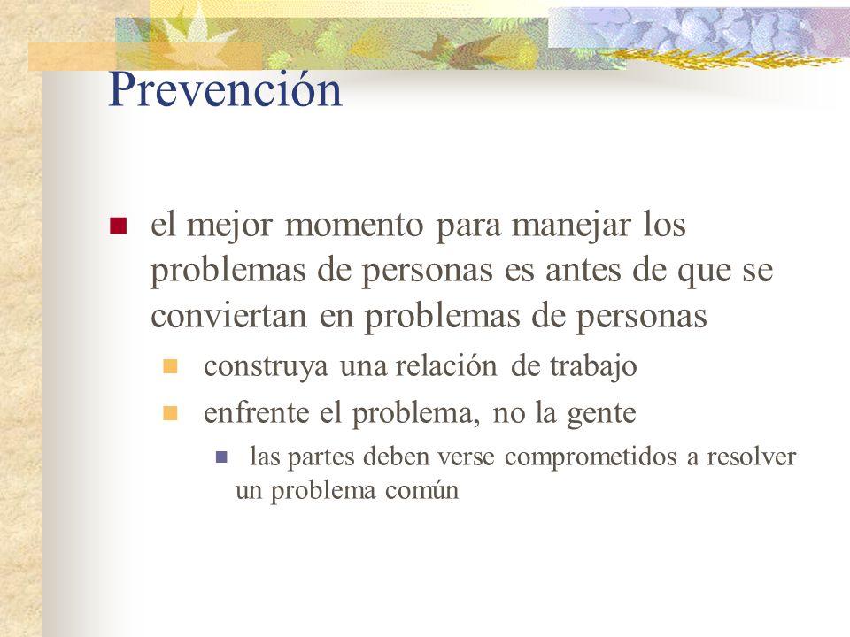 Prevención el mejor momento para manejar los problemas de personas es antes de que se conviertan en problemas de personas construya una relación de tr