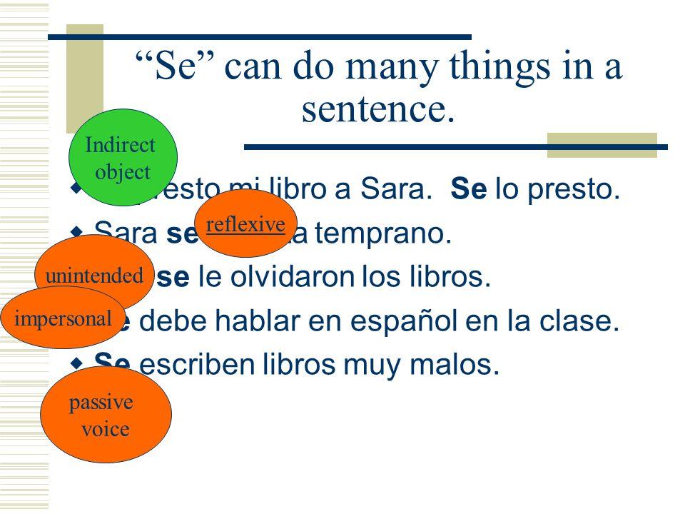 Se can do many things in a sentence.Le presto mi libro a Sara.