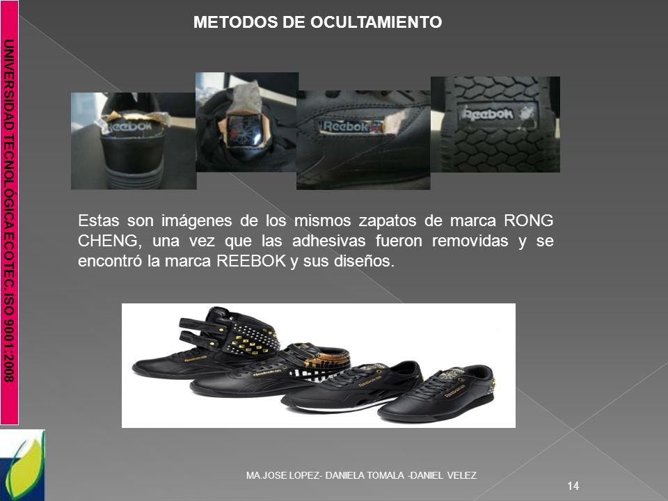 UNIVERSIDAD TECNOLÓGICA ECOTEC. ISO 9001:2008 MA.JOSE LOPEZ- DANIELA TOMALA -DANIEL VELEZ 14 METODOS DE OCULTAMIENTO Estas son imágenes de los mismos
