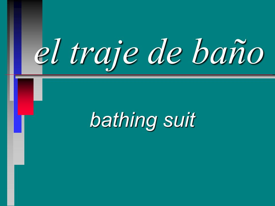 el traje de baño bathing suit