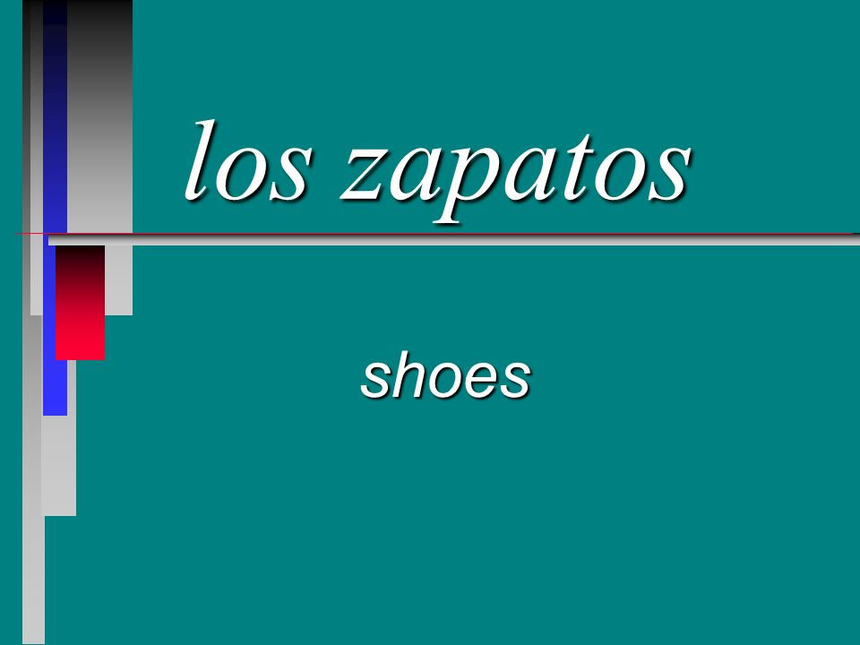 los zapatos shoes