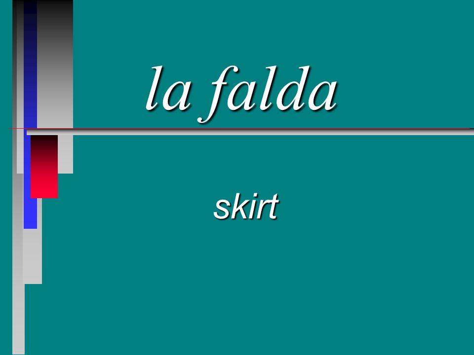 la falda skirt