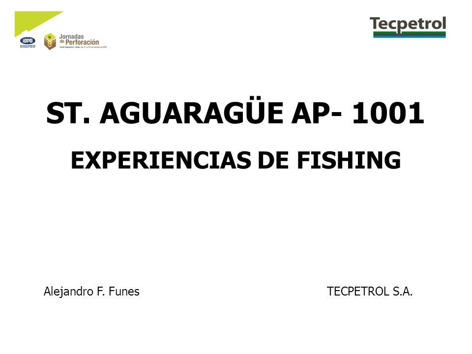 ST. AGUARAGÜE AP- 1001 EXPERIENCIAS DE FISHING Alejandro F. FunesTECPETROL S.A.