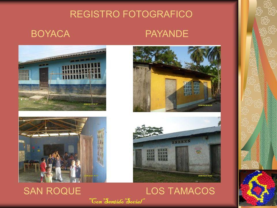 SAN ROQUE LOS TAMACOS BOYACA PAYANDE REGISTRO FOTOGRAFICO Con Sentido Social