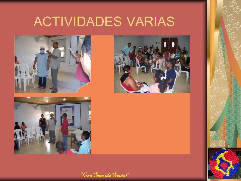 ACTIVIDADES VARIAS Con Sentido Social