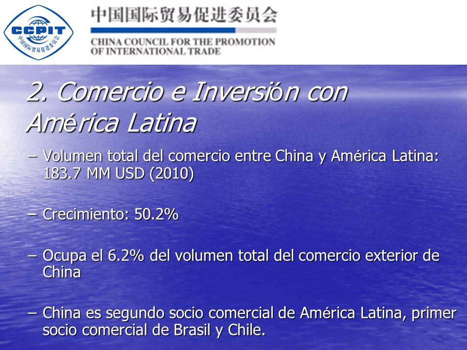 Los 10 primeros socios comerciales de China en Am é rica Latina: Los 10 primeros socios comerciales de China en Am é rica Latina: Brasil(62.55MM), Chile, M é xico, Argentina, Panam á, Venezuela, el Per ú, Colombia, Costa Rica, Uruguay Brasil(62.55MM), Chile, M é xico, Argentina, Panam á, Venezuela, el Per ú, Colombia, Costa Rica, Uruguay 2.