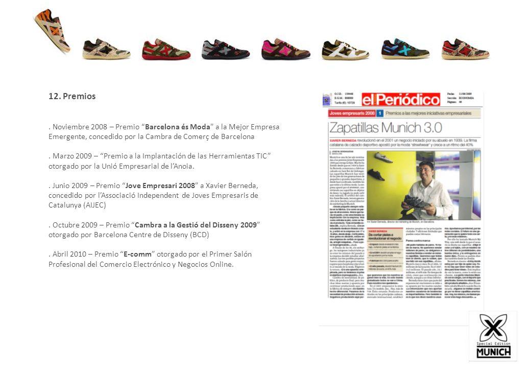 12. Premios. Noviembre 2008 – Premio Barcelona és Moda a la Mejor Empresa Emergente, concedido por la Cambra de Comerç de Barcelona. Marzo 2009 – Prem