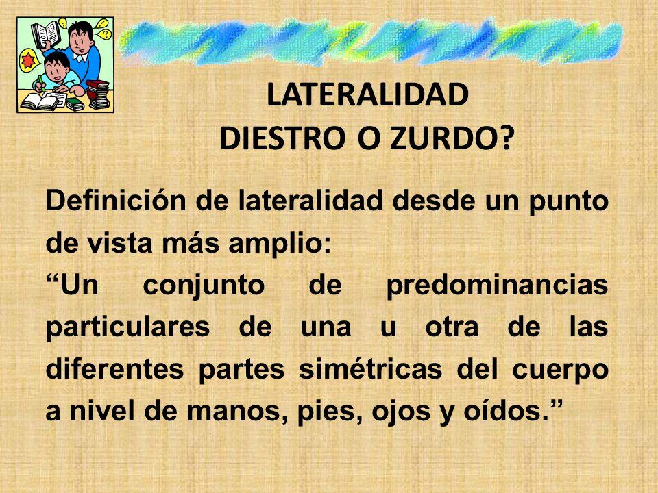 DESARROLLO DE LAS ETAPAS PRELATERALES La lateralidad es un recorrido neuro-senso-motriz Las etapas prelaterales comprenden un período de los 0 a 4 años.