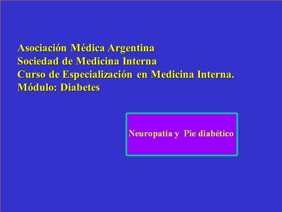 Asociación Médica Argentina Sociedad de Medicina Interna Curso de Especialización en Medicina Interna. Módulo: Diabetes