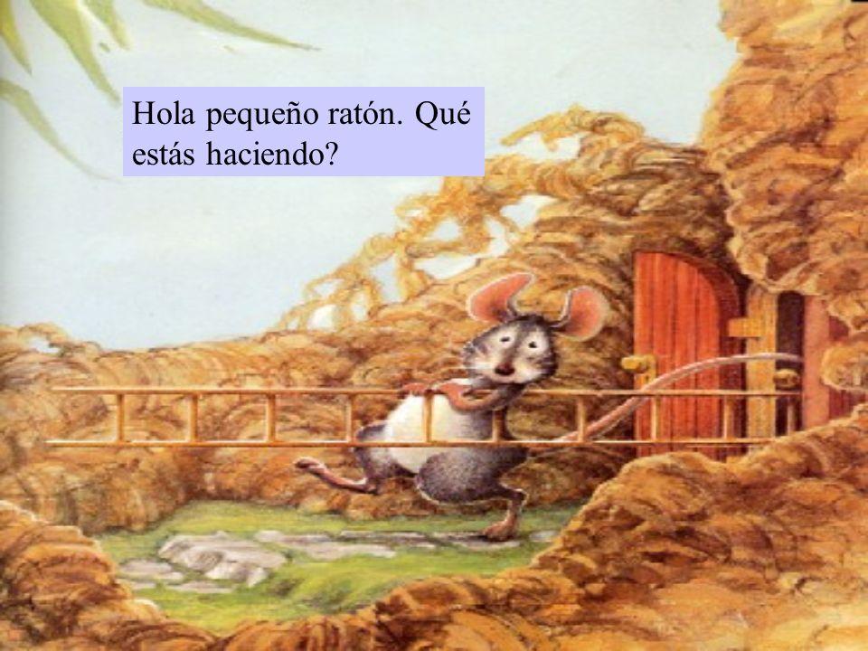 Hola pequeño ratón. Qué estás haciendo?