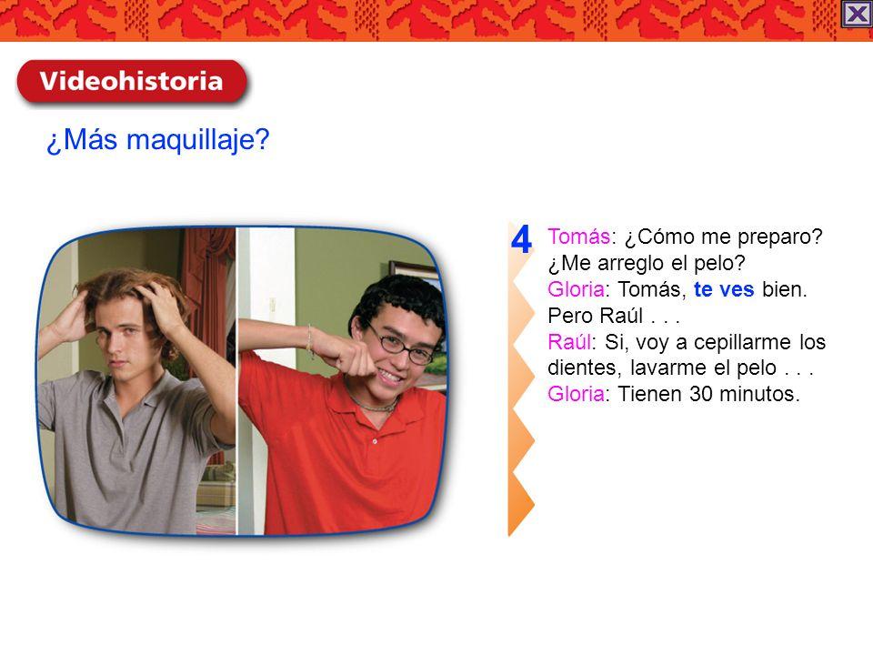 Raúl: ¡Qué idea.Mira dónde estamos. Gloria: Primero, no es idea mía...