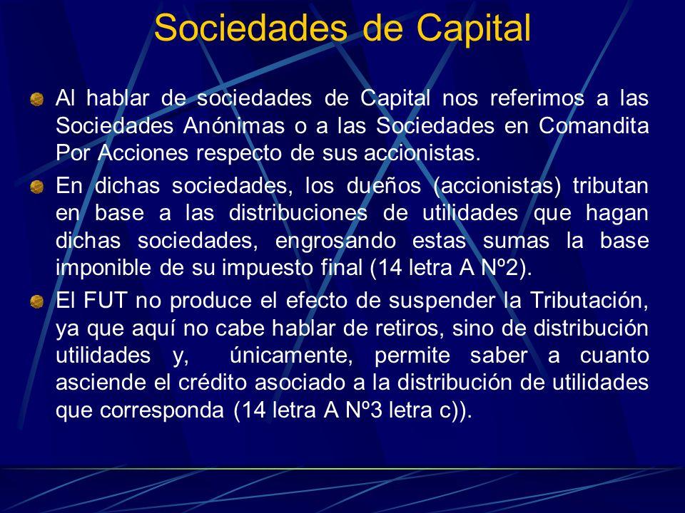 Sociedades de Capital Al hablar de sociedades de Capital nos referimos a las Sociedades Anónimas o a las Sociedades en Comandita Por Acciones respecto