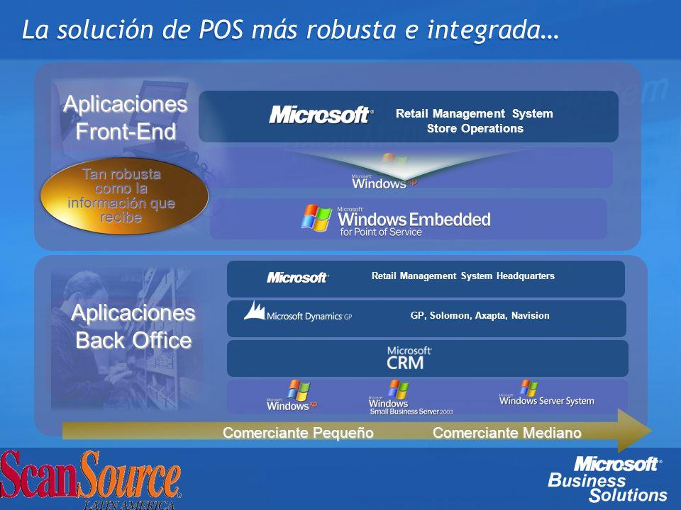 La solución de POS más robusta e integrada… Retail Management System Store Operations GP, Solomon, Axapta, Navision Retail Management System Headquart