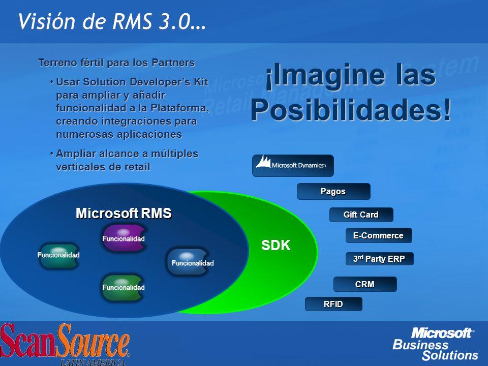 Visión de RMS 3.0… Microsoft RMS Funcionalidad Terreno fértil para los Partners Usar Solution Developers Kit para ampliar y añadir funcionalidad a la