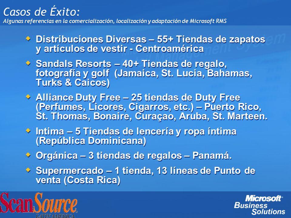 Casos de Éxito: Algunas referencias en la comercialización, localización y adaptación de Microsoft RMS Distribuciones Diversas – 55+ Tiendas de zapato