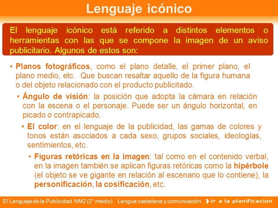 El Lenguaje de la Publicidad NM2 (2° medio) Lengua castellana y comunicación Figuras publicitarias Modelos femeninos y masculinos, suelen ser los rostros y figuras de productos de belleza y vestuario.