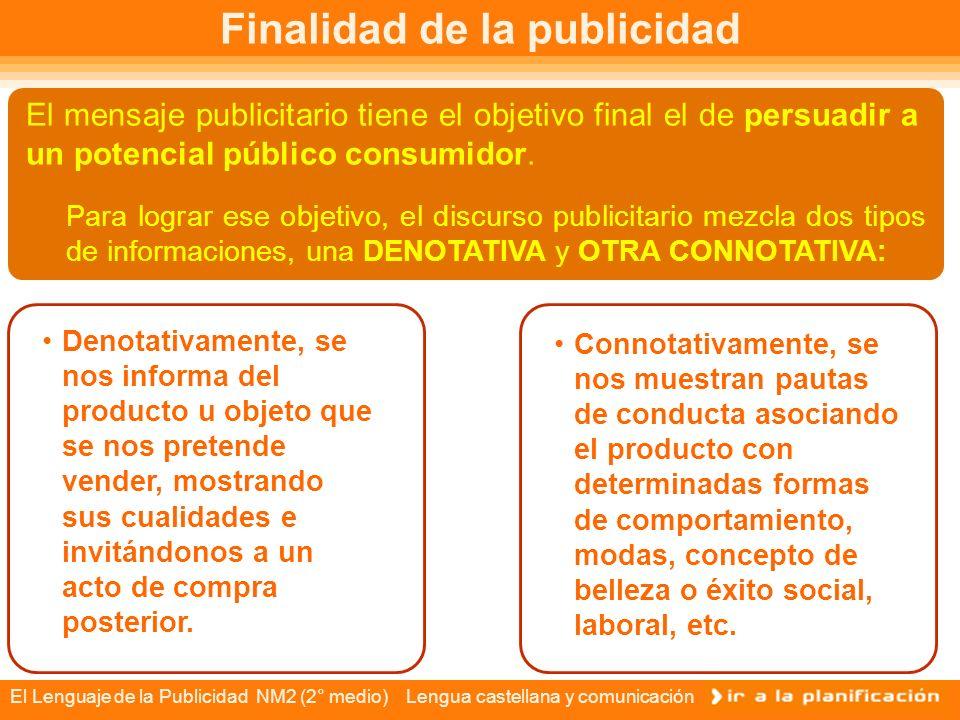 El Lenguaje de la Publicidad NM2 (2° medio) Lengua castellana y comunicación Publicidad engañosa Muchas veces el discurso publicitario recurre a la manipulación de la información, con el objeto de hacer más efectiva la persuasión y la seducción de los consumidores.