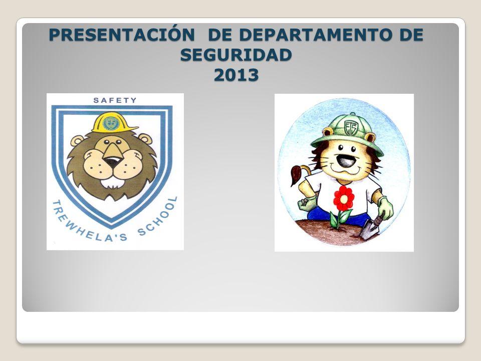 PRESENTACIÓN DE DEPARTAMENTO DE SEGURIDAD 2013