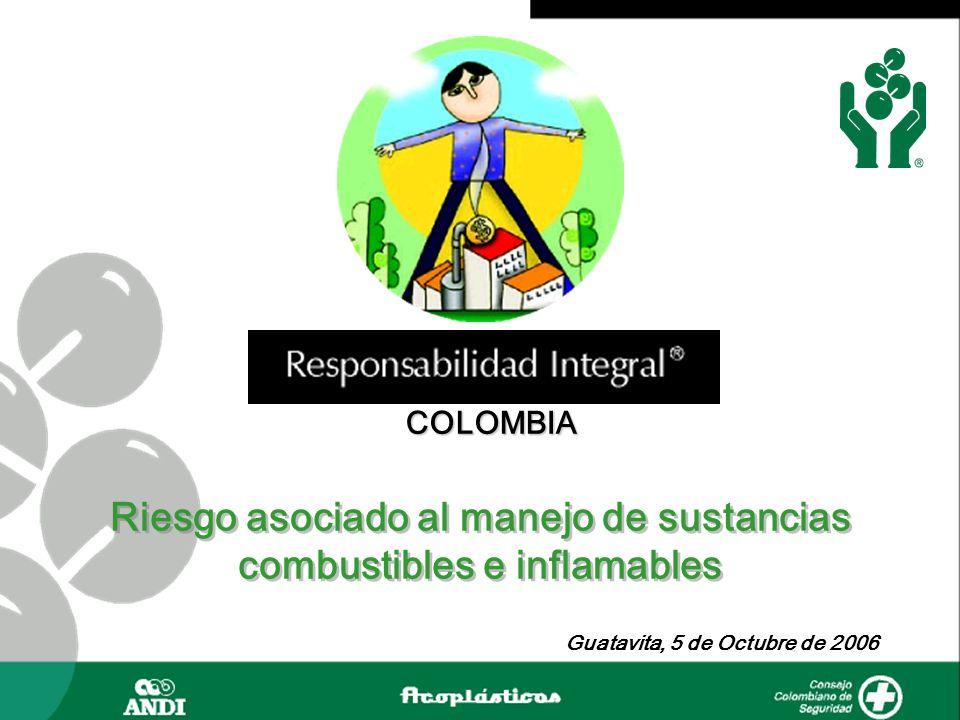 COLOMBIA Guatavita, 5 de Octubre de 2006 Riesgo asociado al manejo de sustancias combustibles e inflamables