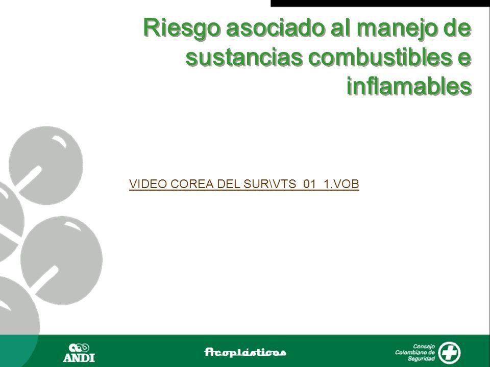 Riesgo asociado al manejo de sustancias combustibles e inflamables PROYECTO DE CLASIFICACIÓN CARBOQUIMICA S.