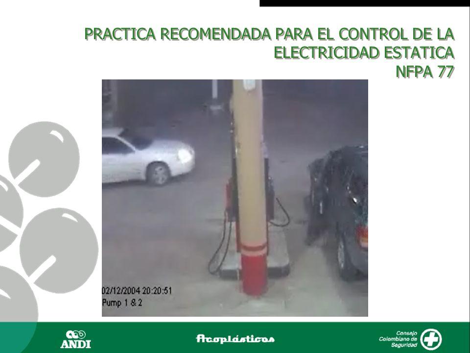 PRACTICA RECOMENDADA PARA EL CONTROL DE LA ELECTRICIDAD ESTATICA NFPA 77.