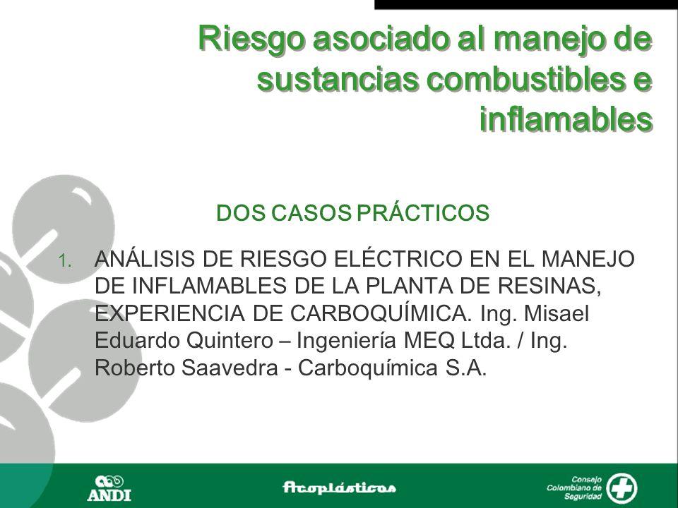 Riesgo asociado al manejo de sustancias combustibles e inflamables DOS CASOS PRÁCTICOS 1. ANÁLISIS DE RIESGO ELÉCTRICO EN EL MANEJO DE INFLAMABLES DE