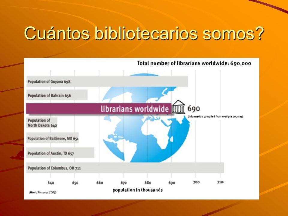 Cuántos bibliotecarios somos?