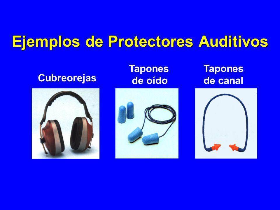 Cubreorejas Tapones de oído Tapones de canal Ejemplos de Protectores Auditivos
