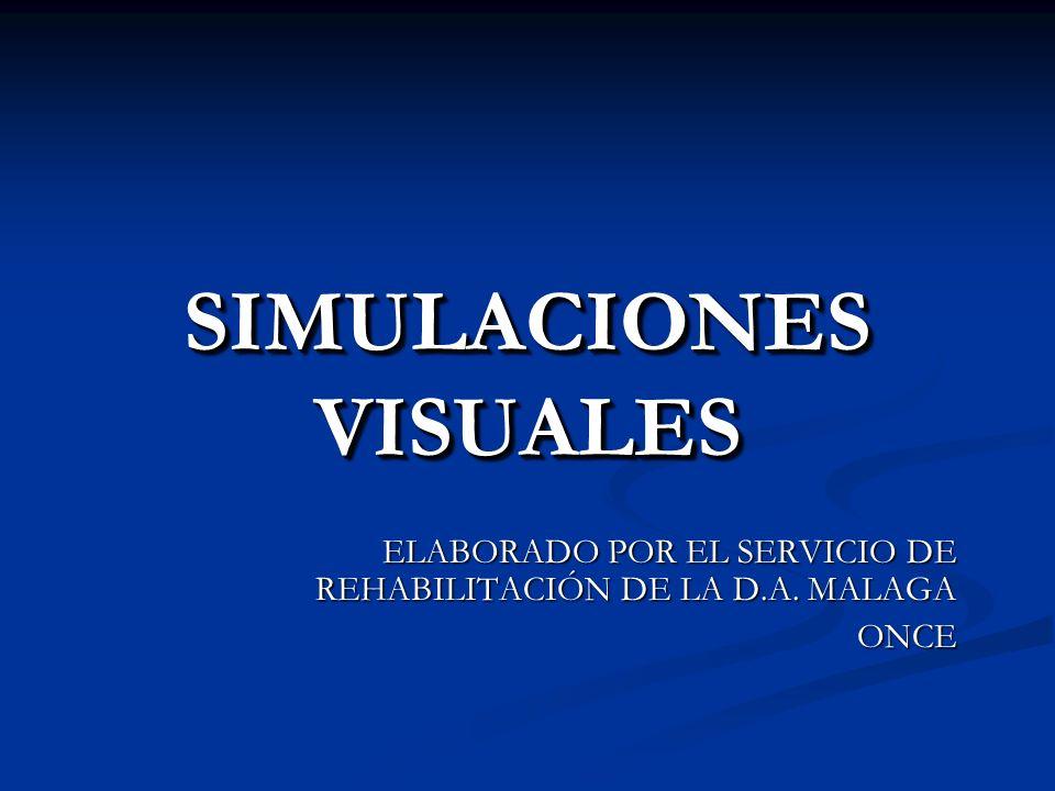 SIMULACIONES VISUALES ELABORADO POR EL SERVICIO DE REHABILITACIÓN DE LA D.A. MALAGA ONCE