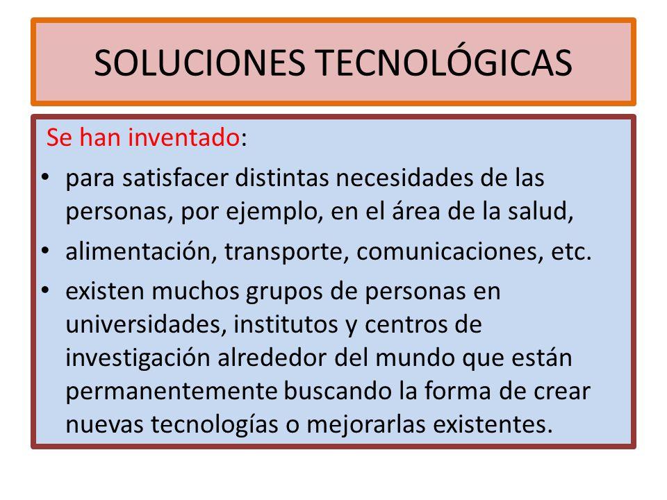 Soluciones tecnológicas.