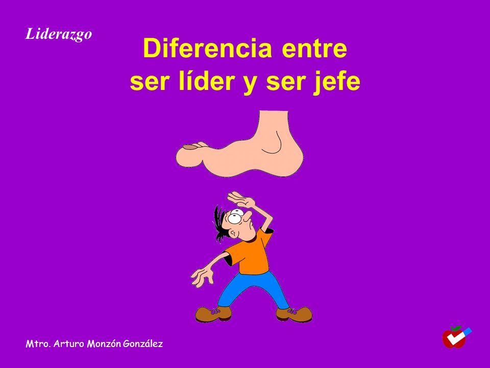Diferencia entre ser líder y ser jefe Liderazgo Mtro. Arturo Monzón González