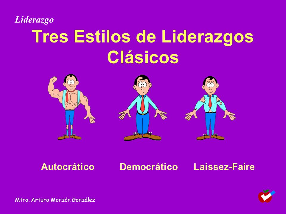 Tres Estilos de Liderazgos Clásicos AutocráticoDemocráticoLaissez-Faire Liderazgo Mtro. Arturo Monzón González