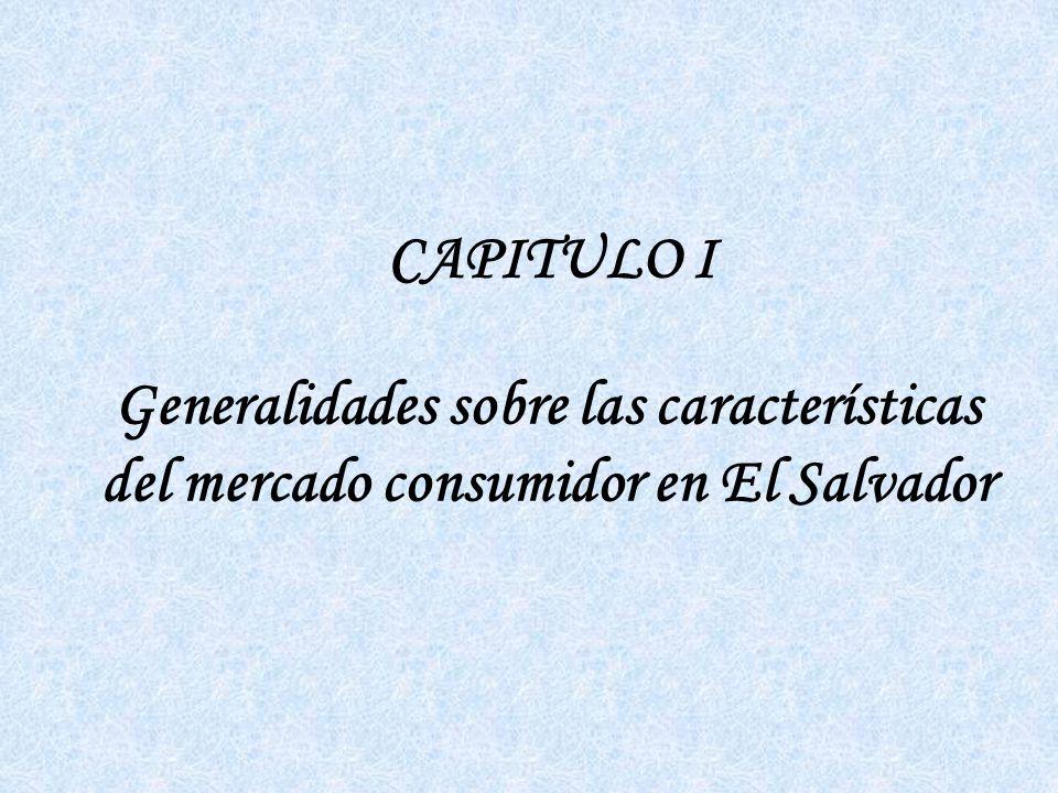 CAPITULO III Diagnóstico sobre las características del Mercado Consumidor