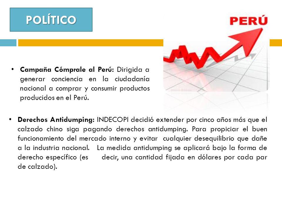 POLÍTICO Campaña Cómprale al Perú: Dirigida a generar conciencia en la ciudadanía nacional a comprar y consumir productos producidos en el Perú. Derec
