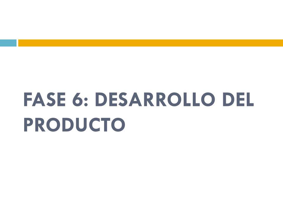 FASE 6: DESARROLLO DEL PRODUCTO