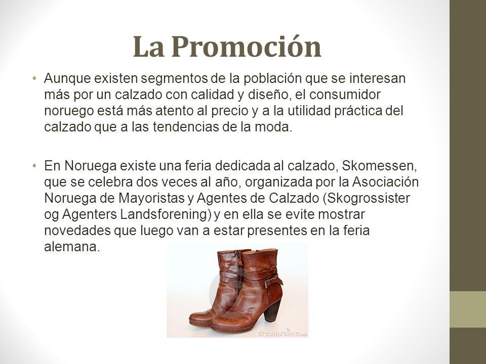 Cifras Exportaciones de calzado español a Noruega199920002001 6402 calzado de caucho o plástico1.609491802 6403 calzado de cuero natural2.6634.5224.332 6404 calzado de materias textiles473327224 6405 los demás calzados8641.004953 6406 partes de calzados82745 64 total calzado5.6196.3476.358